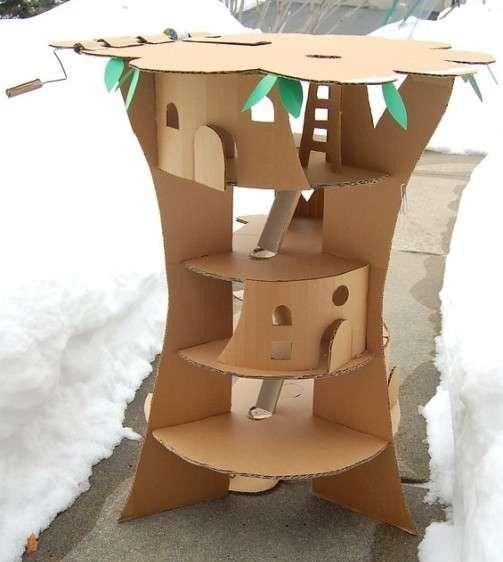 Что можно сделать из картона своими руками: из трубок, картонной коробки и гофрированного картона