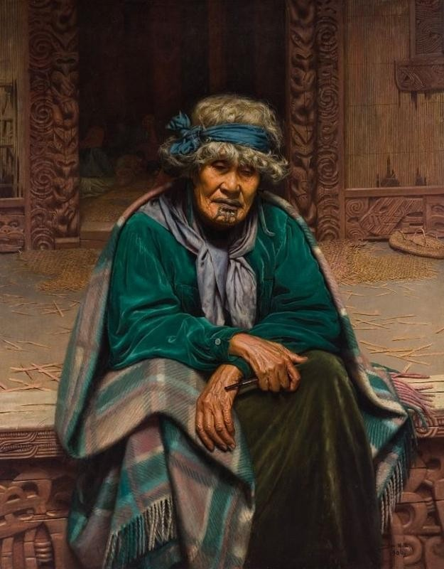 """""""Ina Te Papatahi"""" by Charles Frederick Goldie #colourinspiration"""