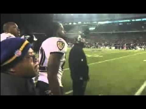 Ray Lewis speaks to his Baltimore Ravens team after the loss in the 2012 AFC Championship Game to the New England Patriots.
