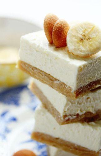 Banana Pudding Cheesecake Blondies