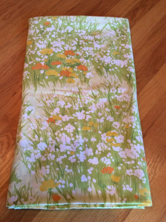 Vintage Mid-Century 1970s ~ Full Flat sheet ~ by Dan River  Flat sheet is in good condition Nice color  No rips, stains, smells or holes