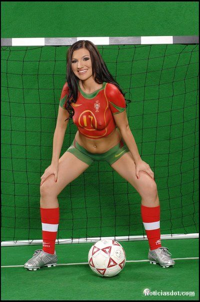 Portugal World Cup Body Paint | World Cup Body Paint