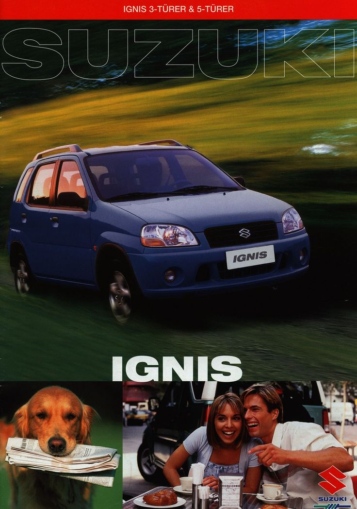 https://flic.kr/p/F23eqq | Suzuki Ignis 3-Türer & 5-Türer; 2000_1 | auto car brochure | by worldtravellib World Travel library - The Collection