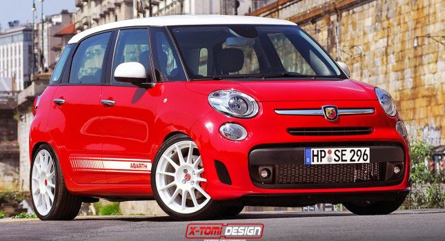 Fiat 500L Gets Sporty Abarth Look via Rendering