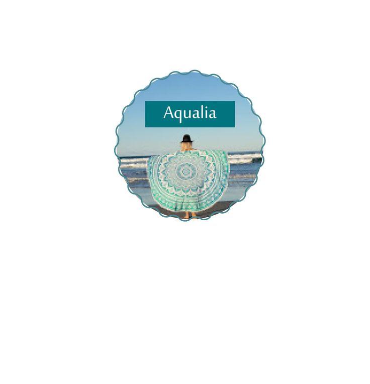 Mandala Roundie Throws (Aqualia) by KateStClaireLivingCo on Etsy