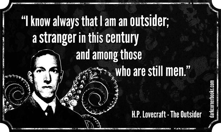 Famous horror quotes - H.P. Lovecraft http://darkcornerbooks.com/