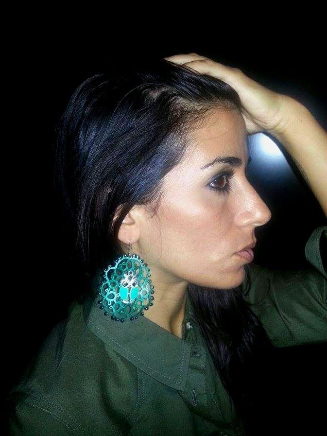 Earrings made with tatting technique. http://www.misshobby.com/it/negozi/stiloso