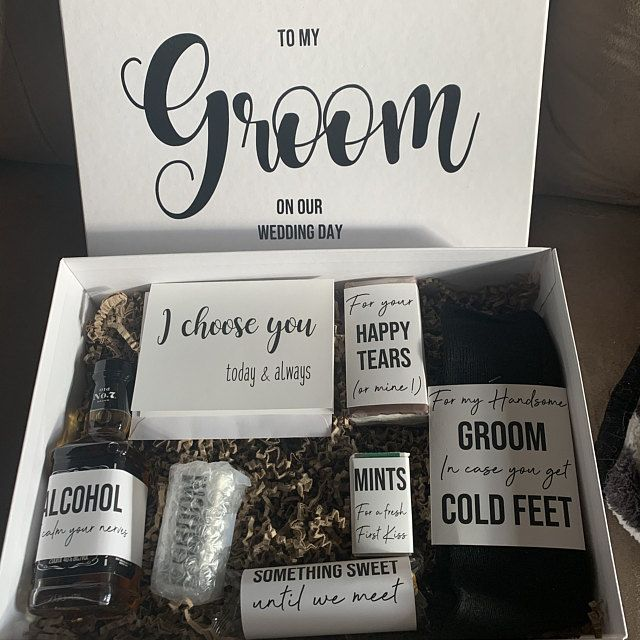 Groom Gift Box Groom Gift From Bride On Wedding Day Wedding Gift For Groom Groom Box In 2021 Groom Gift Box Bride And Groom Gifts Groom Gift