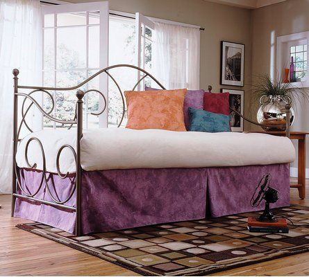 this simple metal day bed has a light and airy feel that will fit with the - Sleepys Bed Frame