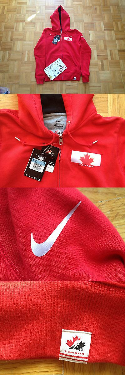 Hockey-Team Canada 2868: Nwt Nike Team Canada Hockey Olympics Red Full Zip Women Sweater Hoodie Medium -> BUY IT NOW ONLY: $49.99 on eBay!