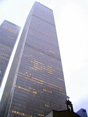 World Trade Center, 1970-2001: Twin Towers and Church