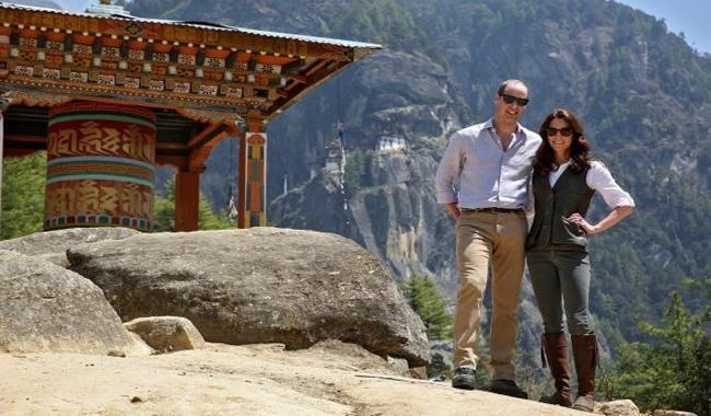 British royals hike to mountain monastery in Bhutan
