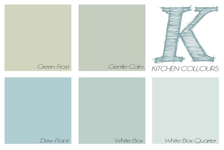 Dulux wall colour paint palette - soft blue-greens