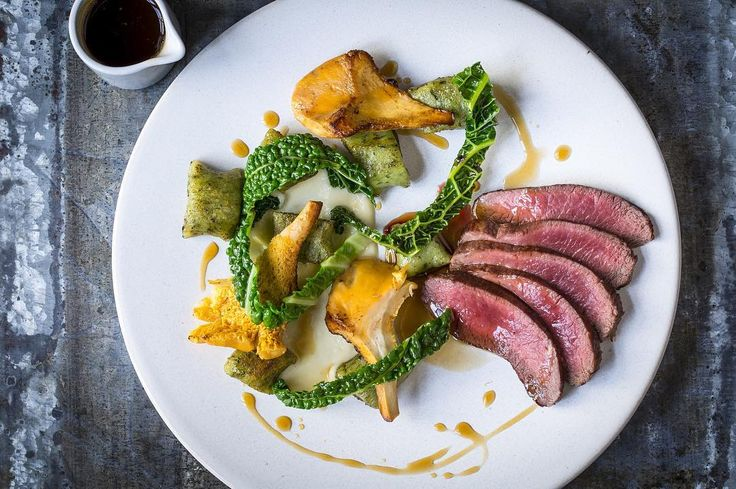 Stunning spring dishes @heddonstkitchen - check out this loin of venison with ceps mushrooms and wild garlic gnocchi! Gx by gordongram