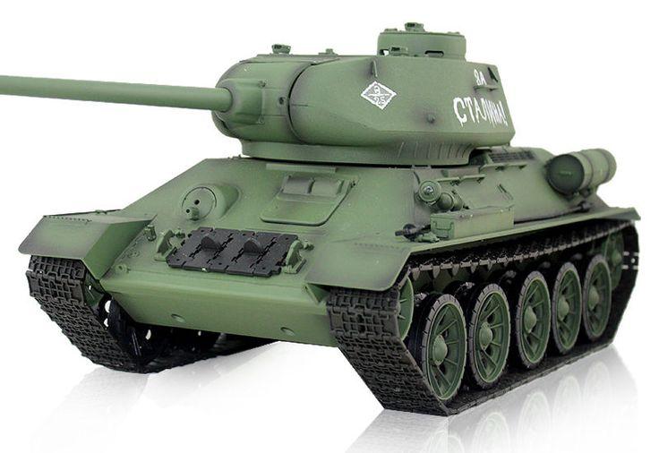 Heng Long T-34 - Радиоуправляемая модель советского танка Т-34/85  http://hobbystart.ru/item.php?id=57388