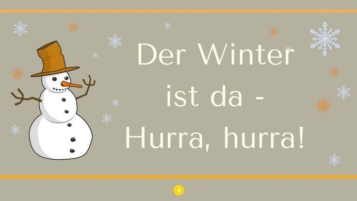 """""""Der Winter ist da - hurra!"""""""