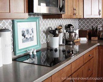 Muestra sólo - cocina backsplash, despensa o cuarto de baño actualización - diseño de vinilo quatrefoil-
