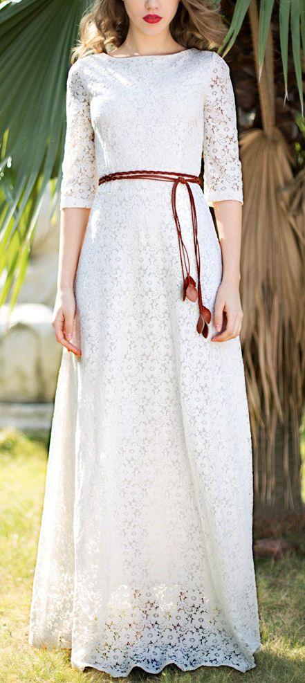 Floral Lace Maxi Dress ♥ #ifDreaMcomeTrue