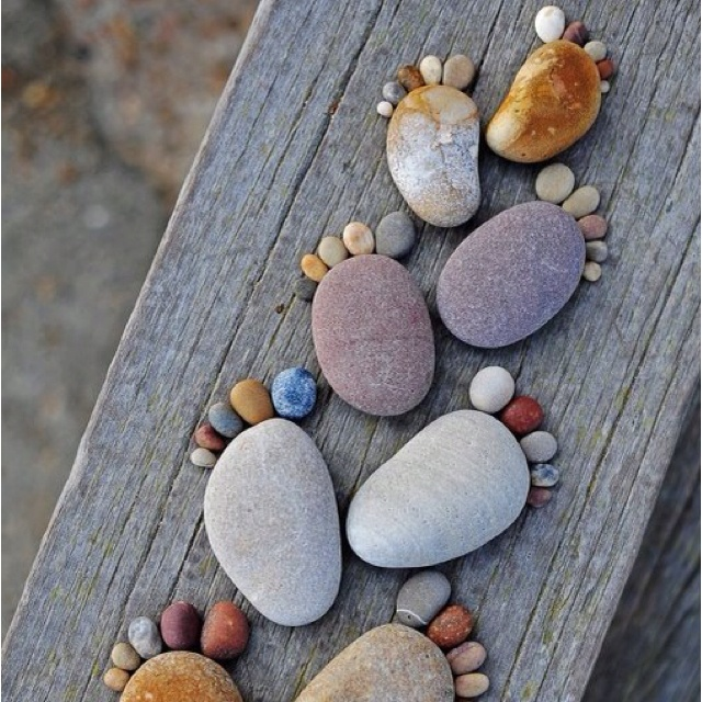 @marciaFootprints, Rivers Rocks, Foot Prints, Cute Ideas, Rocks Feet, Art, Step Stones, Gardens, Crafts