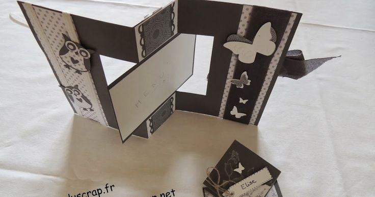 TUTO CARTE PIVOTANTE MENU               1,5 feuille A 4 de papier de  couleur 1.    1 feuille de papier A 4 de couleur  2.    papier à mo...