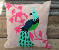 Alayna Fuchsia Velvet Square Cushions