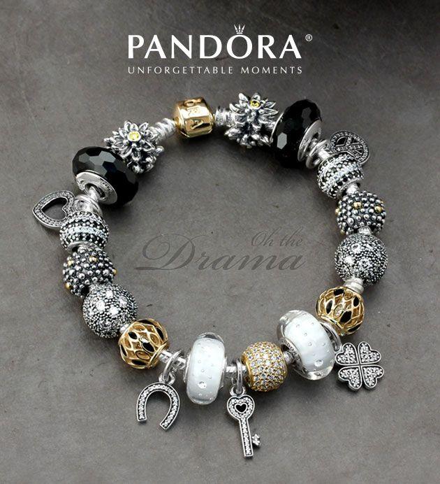 Make a bold statement with a dramatic bracelet! Shop PANDORA charms and finished bracelets at ElisaIlana.com.