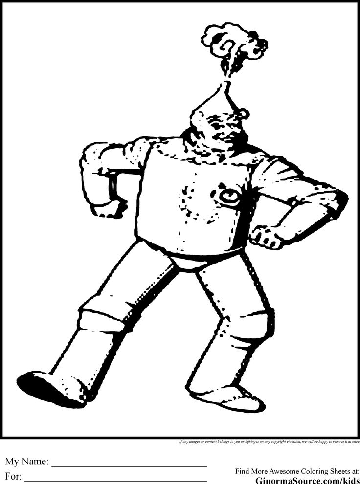 Wizard Of Oz Coloring Pages Tin Mangif Recipes
