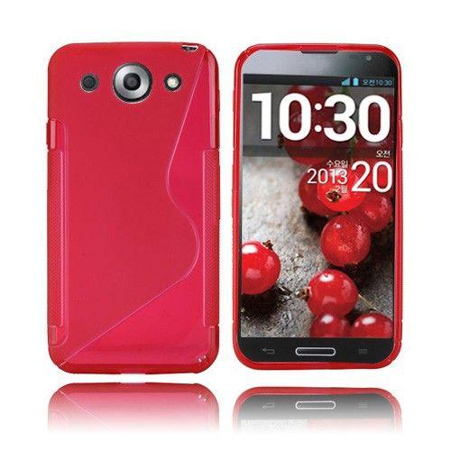 S-Line (Punainen) LG Optimus G Pro Suojakuori