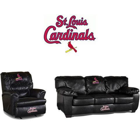 Elegant St. Louis Cardinals Leather Furniture Set At Www.SportsFansPlus.com
