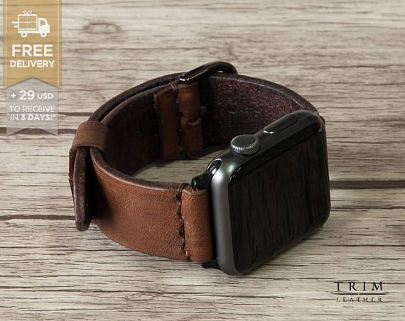 Apple Watch Band Leather Watch Band Minimal Series 1 and 2