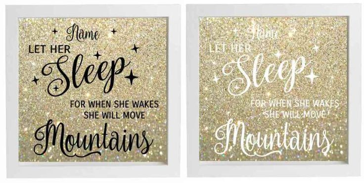 Vinyl sticker for diy box frame let her sleep when wakes she will build mountain