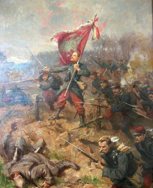 Death of Wladyslaw Szujski in the Battle of Sillery - Jan Styka