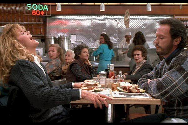 Meg Ryan faking it in When Harry Met Sally.  People still talk about it.