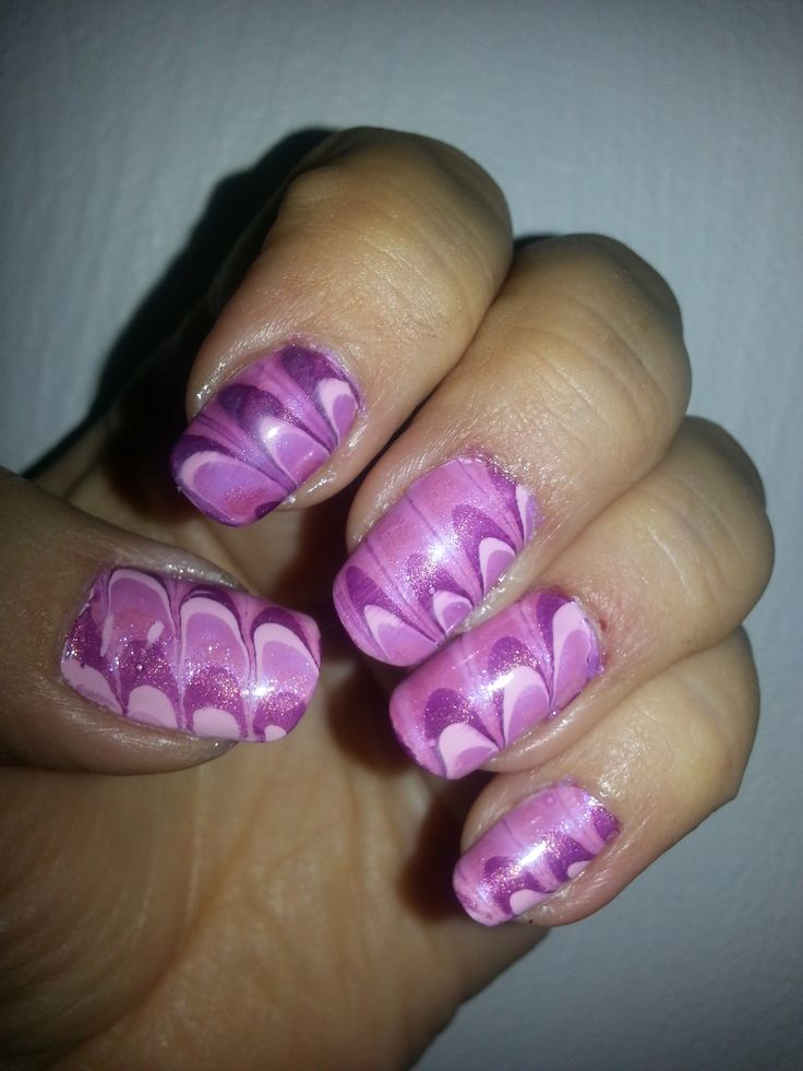 Water Marble Technique - Pink Pattern in China Glaze