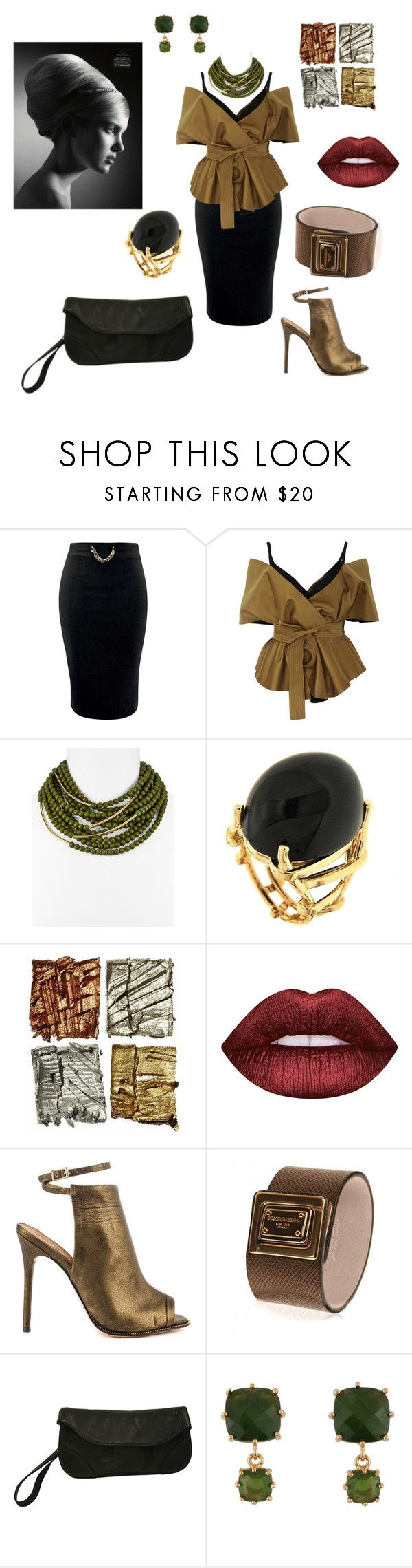 """""""hips drama nature"""" by explorer-14860390596 on Polyvore featuring мода, Acler, Fairchild Baldwin, Valentin Magro, Lime Crime, L.A.M.B., Dolce&Gabbana, Piel Leather и Patchington"""
