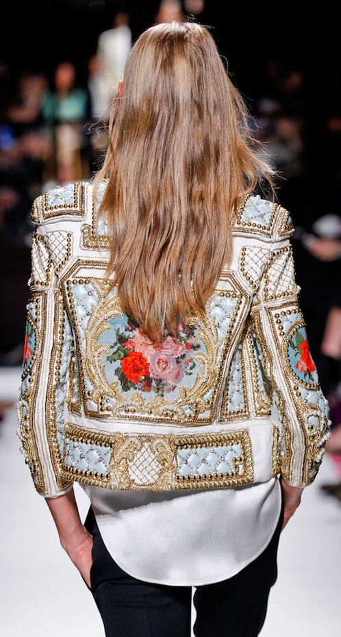 Rich details & embroidery ~ Pearls, beads & more from Balmain Paris Fashion Week – 2012