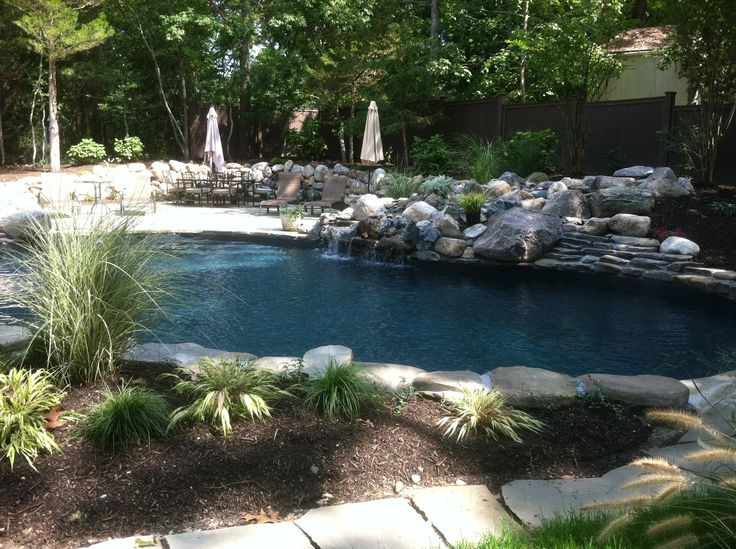 24 best pools images on pinterest pools swimming pools for Swimming pool waterfalls construction