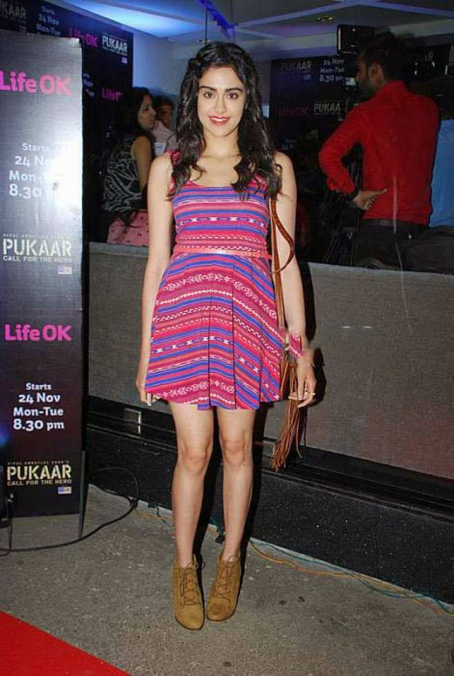 Adah Sharma Latest Hot Thigh Show Photos in Short Mini Dress - Bollyimage