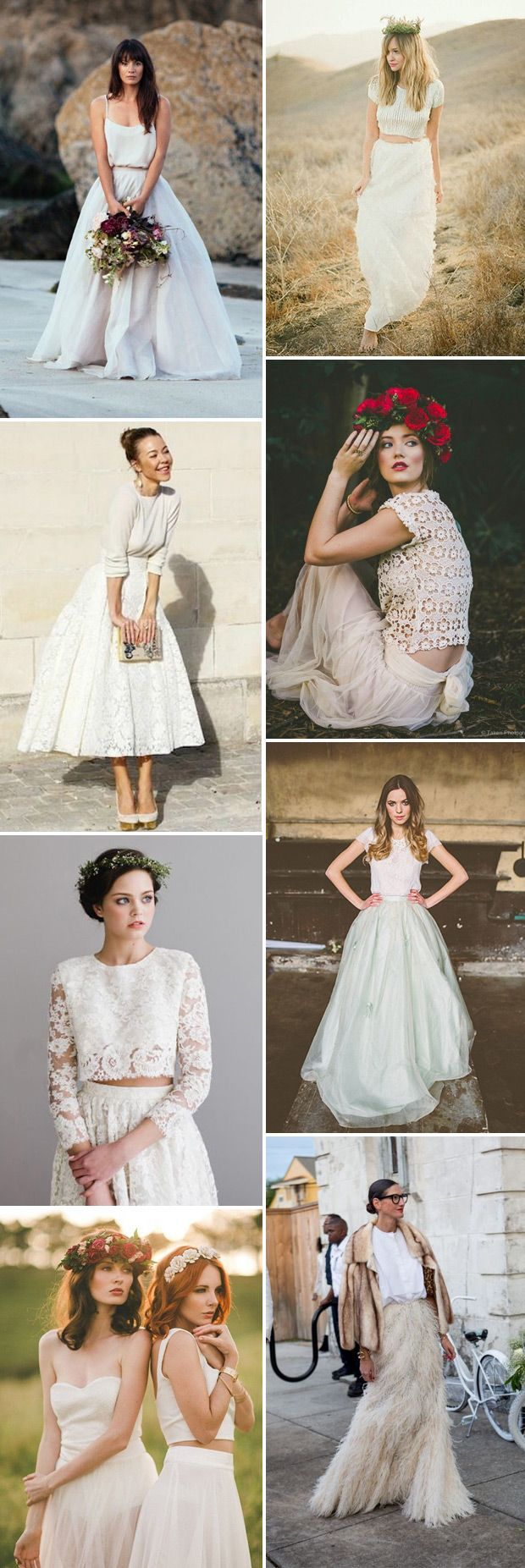 A Hot Trend for 2015 | Bridal Separates | www.onefabday.com