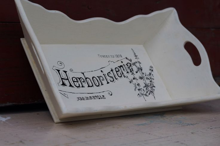 Painted Tray / Small Painted Serving Tray / White Shabby Chic French Typography Painted Serving Tray / Shabby Chic Home Decor Tray by JMFindsandDesigns on Etsy https://www.etsy.com/listing/248763862/painted-tray-small-painted-serving-tray