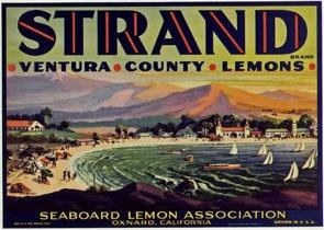 Vintage Lemon Crate Label-Oxnard-CA