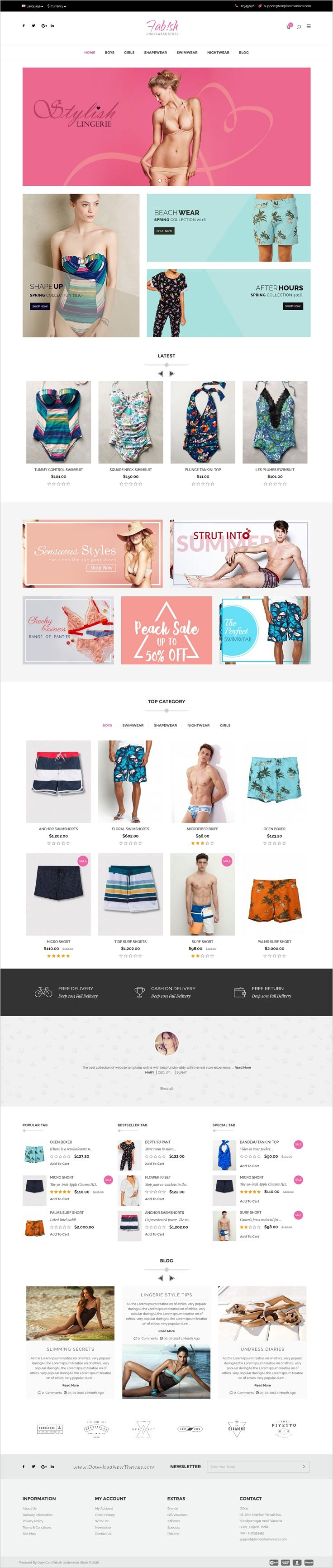 Fabish is an advanced @Opencart theme for multipurpose #underwear #lingerie #swimwear #nightwear shop eCommerce website with 4 stunning homepage layouts download now➯ https://themeforest.net/item/fabsh-responsive-opencart-theme/17118224?ref=Datasata