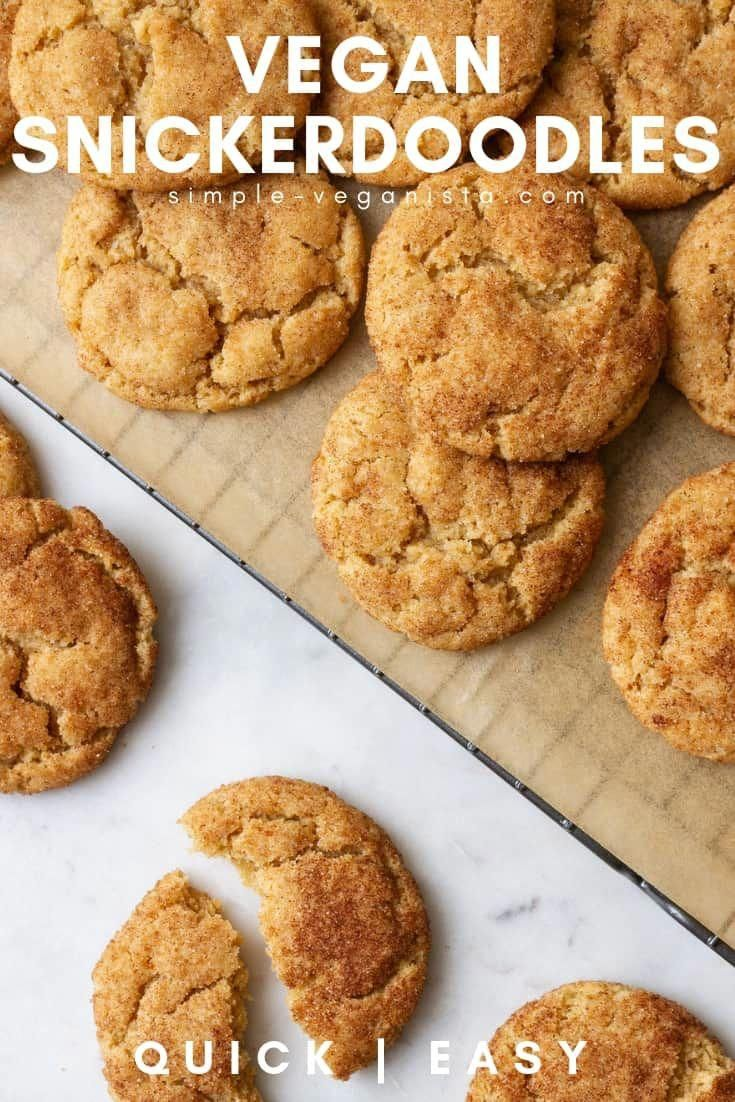 Simple and delicious, these vegan snickerdoodles, rolled in cinnamon-sugar, can …