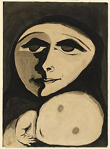 Joy Hester (1945) Mother and child