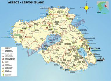 lesvos rent a car hire map