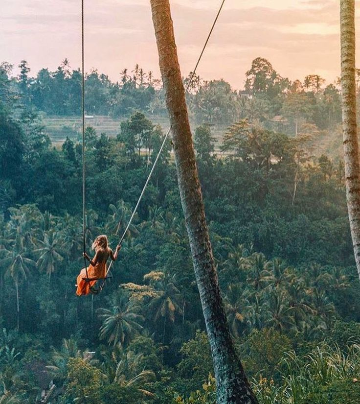 """5,286 Likes, 118 Comments - L*Space by Monica Wise (@lspaceswim) on Instagram: """"This ain't no kiddie swing @gypsea_lust #LetGo #Bali #SwingGoals"""""""