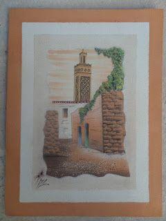 لوحة تلمسان لمحمد سعد بوشنافة