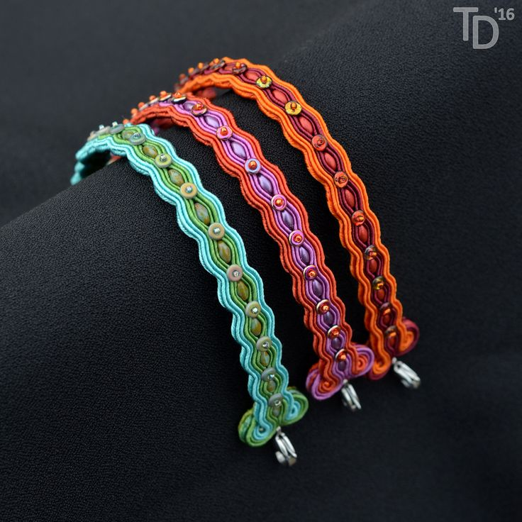 "Soutache bracelets ""Superdu-O"" - TheTerezkaD"