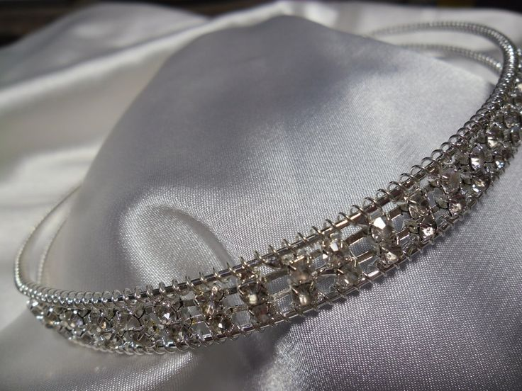 Hairband - Silver - Diamante