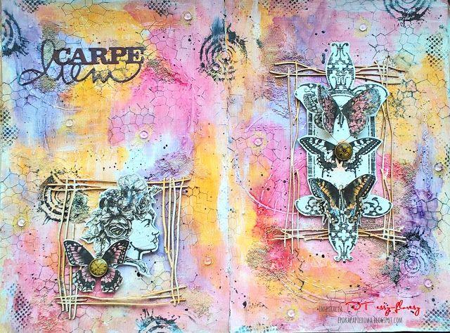 EPOKA  PAPIEROWA: Art Journal page